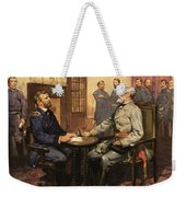 General Grant Meets Robert E Lee  Weekender Tote Bag