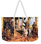 General Lee And His Horse 'traveller' Surrenders To General Grant By Mcconnell Weekender Tote Bag