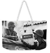 General Patton In Sicily Weekender Tote Bag