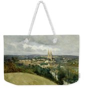 General View Of The Town Of Saint Lo Weekender Tote Bag by Jean Corot