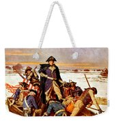 General Washington Crossing The Delaware River Weekender Tote Bag by War Is Hell Store