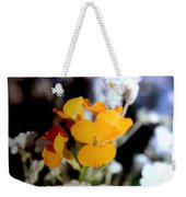 Gentle Yellow And White Weekender Tote Bag