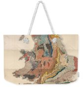 Geological Map Of England And Wales - Historical Relief Map - Antique Map - Historical Atlas Weekender Tote Bag