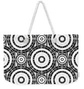 Geometric Black And White Weekender Tote Bag