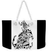 Geometric Dog Weekender Tote Bag