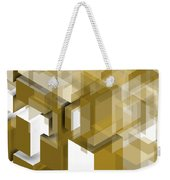 Geometric Gold Composition Weekender Tote Bag