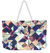 Geometric Grunge Pattern Weekender Tote Bag