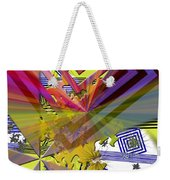 Geometric Rays Happiness Weekender Tote Bag
