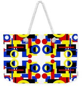 Geometric Shapes Abstract Square 3 Weekender Tote Bag