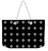 Geometric Sunflowers Black White Weekender Tote Bag