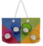 Geometrical Shapes, Colours And Candles Weekender Tote Bag