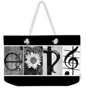 George Alphabet Art Weekender Tote Bag