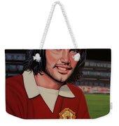 George Best Painting Weekender Tote Bag by Paul Meijering