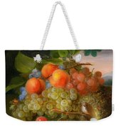 George Forster  Still Life With Fruit And A Birds Nest Weekender Tote Bag