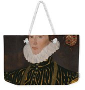 George Gower Portrait Of Thomas Slingsby 1556  1579 1577 Weekender Tote Bag