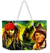George Washington And Abraham Lincoln The Pirates Weekender Tote Bag