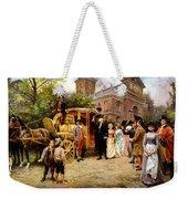 George Washington Arriving At Christ Church Weekender Tote Bag