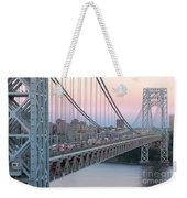 George Washington Bridge And Lighthouse I Weekender Tote Bag