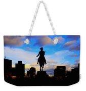 George Washington Statue Sunset - Boston Weekender Tote Bag