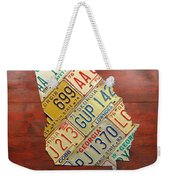 Georgia License Plate Map Weekender Tote Bag