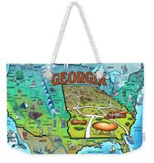 Georgia Usa Cartoon Map Weekender Tote Bag