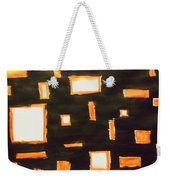 Geosequence In Black And Copper Weekender Tote Bag