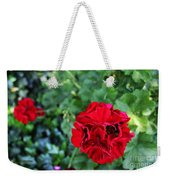 Geranium Flower - Red Weekender Tote Bag