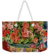 Geraniums And Cats Weekender Tote Bag