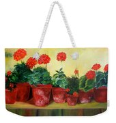 Geraniums In A Row-- Sold Weekender Tote Bag