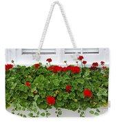 Geraniums On Window Weekender Tote Bag