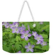 Geraniums Spring Wildflowers Weekender Tote Bag