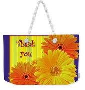 Gerbera Daisy Thank You Card Weekender Tote Bag