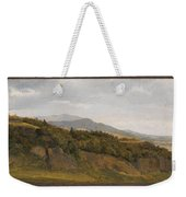 German Landscape With View Towards A Broad Valley , Fritz Petzholdt Weekender Tote Bag