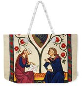 German Minnesinger 14th C - To License For Professional Use Visit Granger.com Weekender Tote Bag