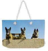 German Shephard Military Working Dogs Weekender Tote Bag