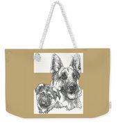 German Shepherd And Pup Weekender Tote Bag