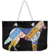German Shepherd Dog Pet Owner Love Vintage Recycled License Plate Artwork Weekender Tote Bag