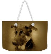 German Shepherd Pup Weekender Tote Bag