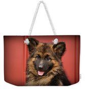 German Shepherd Puppy - Queena Weekender Tote Bag
