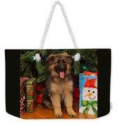German Shepherd Puppy Card Weekender Tote Bag