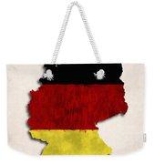 Germany Map Art With Flag Design Weekender Tote Bag
