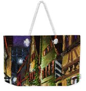 Germany Ulm Old Street Night Moon Weekender Tote Bag