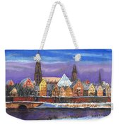 Germany Ulm Panorama Winter Weekender Tote Bag
