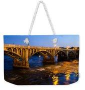 Gervais Street Bridge At Twilight Weekender Tote Bag