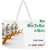 Get Expert's Guidence To Edit W2 Forms In Quickbooks Weekender Tote Bag