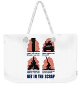 Get In The Scrap - Ww2 Weekender Tote Bag