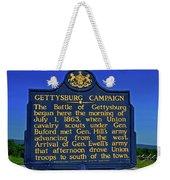 Gettysburg Campaign Weekender Tote Bag