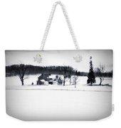Gettysburg Farm In Winter Weekender Tote Bag