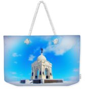 Gettysburg Memorial In Winter Weekender Tote Bag