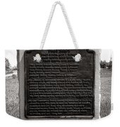 Gettysburg National Park Army Of The Potomac First Corps Monument Weekender Tote Bag